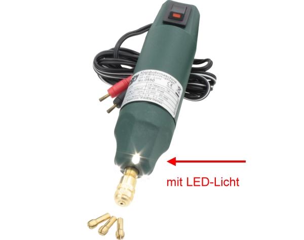 Bohrmaschine Typ 2 Standard, 12-18V D.C. mit Spannzangen + LED-Beleuchtung  | günstig bestellen bei Weinert-Bauteile