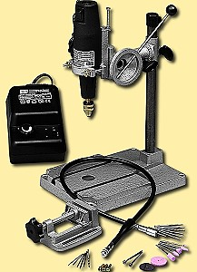 Set: Bohrmaschine Typ 3 mit Metall-Bohrständer, Flexo-Welle und Schraubstock  - Modellbauers Wunschset mit viel Zubehör | günstig bestellen bei Weinert-Bauteile