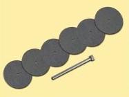 Trennscheiben Ø 22, 6 Stück + Aufspann-Dorn   | günstig bestellen bei Weinert-Bauteile