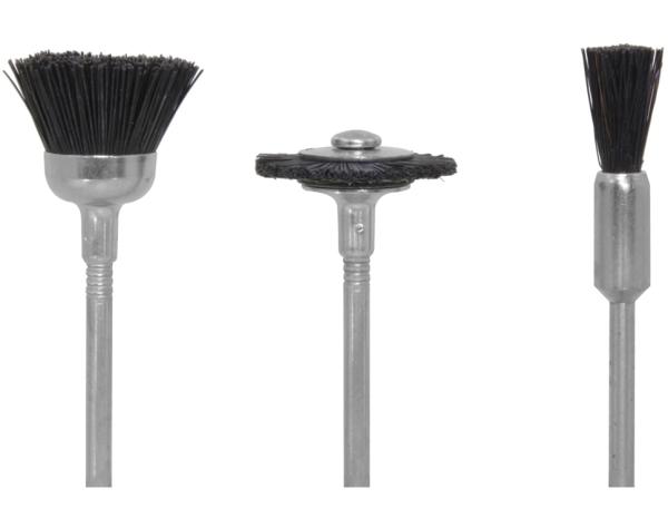 Chungbürsten Kunststoff weich, je 1 Topf-, Rad- und Pinselform  - für hartnäckige Verschmutzungen | günstig bestellen bei Weinert-Bauteile