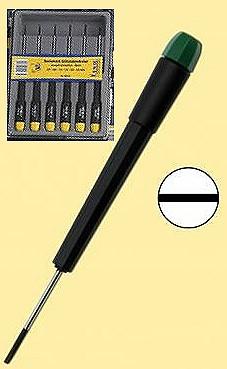 Schraubendreher-Set: 6 feine Schraubendreher für Schlitzschrauben  - ideal für Reparaturarbeiten und Modellbau  | günstig bestellen bei Weinert-Bauteile