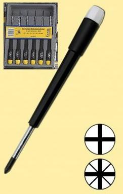 Schraubendreher-Set: 6 feine Schraubendreher für Kreuzschlitzschrauben  - ideal für Reparaturarbeiten und Modellbau  | günstig bestellen bei Weinert-Bauteile