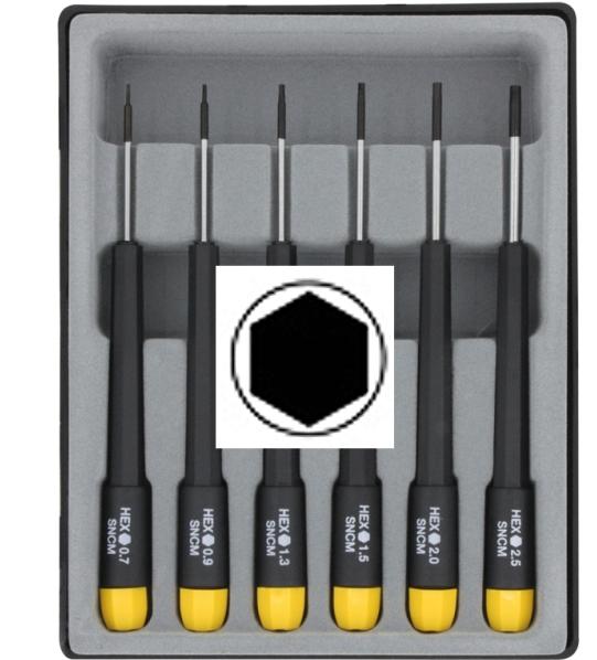 Schraubendreher-Set: Sechskant Dreher Set metrisch, 6-tlg  - ideal für Reparaturarbeiten und Modellbau  | günstig bestellen bei Weinert-Bauteile