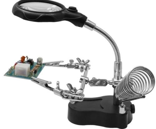 Helping Hand mit LED-Licht und 4-fach Lupe - idealer Helfer zum Basteln!  | günstig bestellen bei Weinert-Bauteile