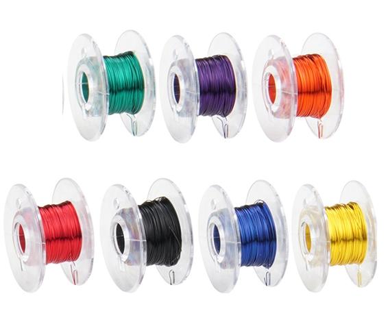 Kupfer-Lackdraht Set Ø 0,15 mm, 7 Farben a 10m  | günstig bestellen bei Weinert-Bauteile