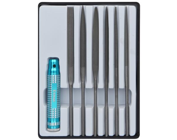 Set Nadelfeilen mit 6 versch. Feilen und Handhalter   | günstig bestellen bei Weinert-Bauteile