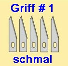 Bastelmesser: 5 Ersatzklingen für Griff #1  | günstig bestellen bei Weinert-Bauteile