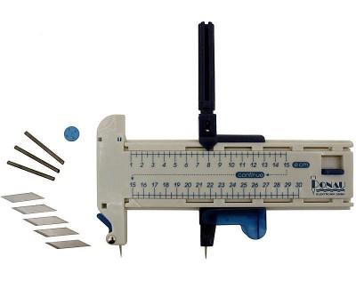 Kreisschneider - mühelos präzise Kreisausschnitte in Papier, Pappe, Leder, Plastik und Folie schneiden  | günstig bestellen bei Weinert-Bauteile