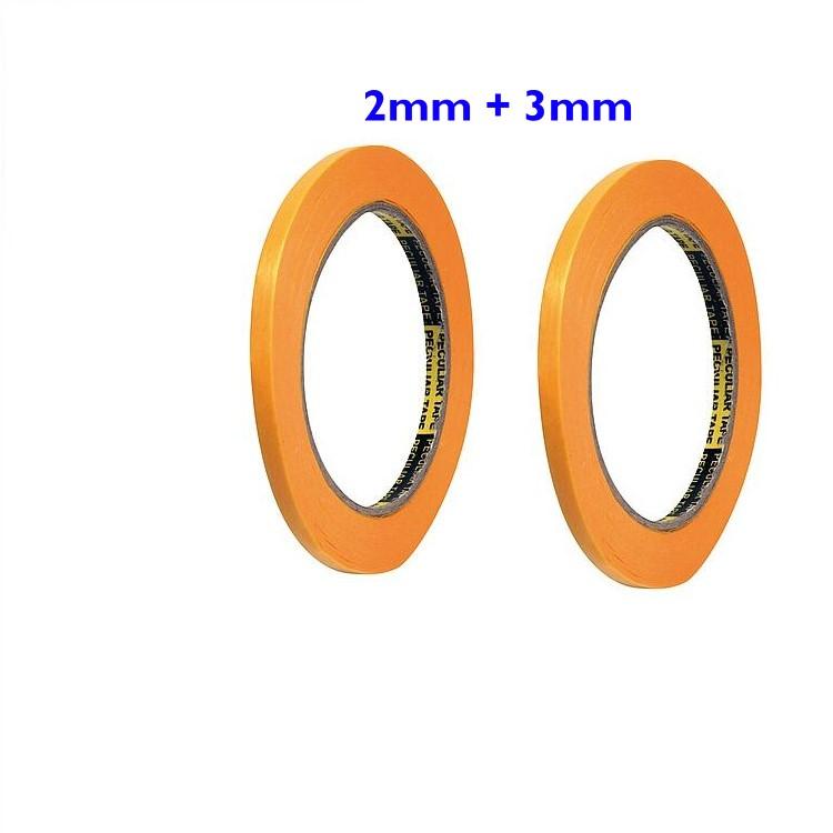 Abklebeband flexibel - Maskierband, 2mm und 3mm breit, je 18m  - deckt geschwungene Linien und Oberflächen präzise und faltenfrei ab | günstig bestellen bei Weinert-Bauteile