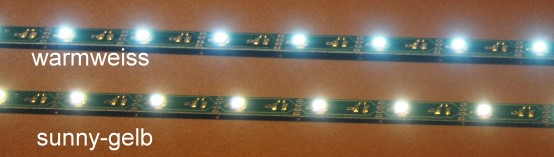 LED Leiste sunny-gelb, L=290mm mit 12 LEDs, Anschluss an 12-20V  - ideal bis Ep.3 | günstig bestellen bei Weinert-Bauteile