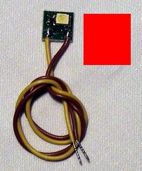 LED-Einzelbeleuchtung rot, 1 LED, Anschluss an 12-16V  | günstig bestellen bei Weinert-Bauteile