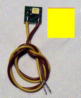 LED-Einzelbeleuchtung gelb, 1 LED, Anschluss an 12-16V  | günstig bestellen bei Weinert-Bauteile