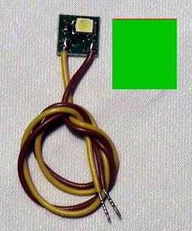 LED-Einzelbeleuchtung grün, 1 LED, Anschluss an 12-16V  | günstig bestellen bei Weinert-Bauteile