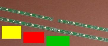LED Leiste bunt (rot-gelb-grün), L=100mm mit 16 LEDs, Anschluss an 9-16V  | günstig bestellen bei Weinert-Bauteile