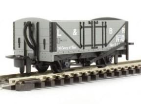 H0e Offener Güterwagen grau, 2-achsig - L&B no.10 - Peco  - Fertigmodell  | günstig bestellen bei Weinert-Bauteile
