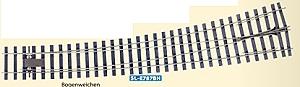 Spur 0 Code 124 Bogenweiche 8° links, L=516mm - Peco SLE787BH  | günstig bestellen bei Weinert-Bauteile
