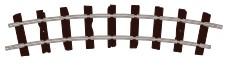 H0e Gleis gebogen, R=228mm, 22,5°, 8 Stück - Peco ST403  | günstig bestellen bei Weinert-Bauteile