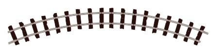 H0e Gleis gebogen, R=228mm, 45°, 4 Stück - Peco ST412  | günstig bestellen bei Weinert-Bauteile