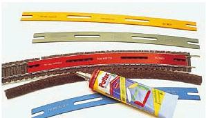 Gleisbau-Schablone H0 + 0e - gerade L=254mm - Peco - mit ausführlicher Anleitung  | günstig bestellen bei Weinert-Bauteile
