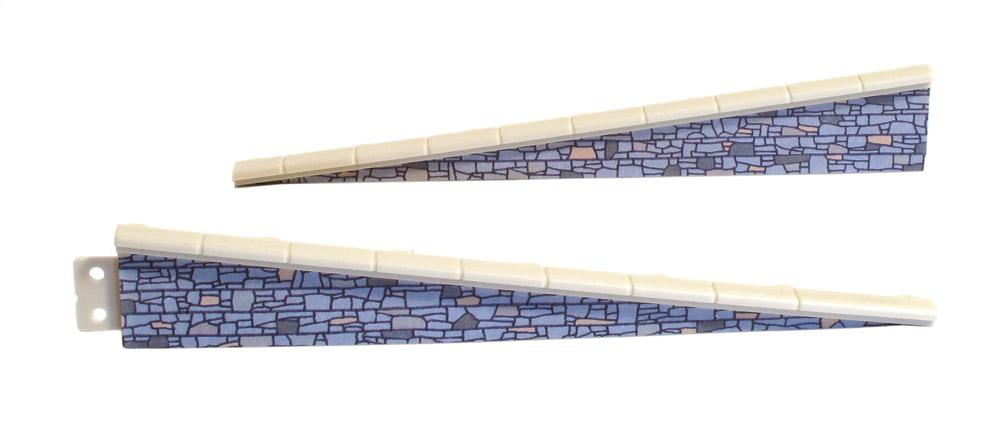 Rampe Naturstein, 2 Paar, L=113mm- Peco LK67  - auch als Laderampe verwendbar   günstig bestellen bei Weinert-Bauteile