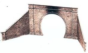 1:45 Tunnelportal mit Stützmauer eingleisig - Peco LK731    günstig bestellen bei Weinert-Bauteile