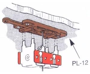 Weichenantrieb, Adapterplatte für Unterflureinbau- Peco PL9 mit Justiermöglichkeit | günstig bestellen bei Weinert-Bauteile