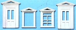 1:45 Türen und Rahmen, 8 St. - Peco LK757 Kunststoff   günstig bestellen bei Weinert-Bauteile