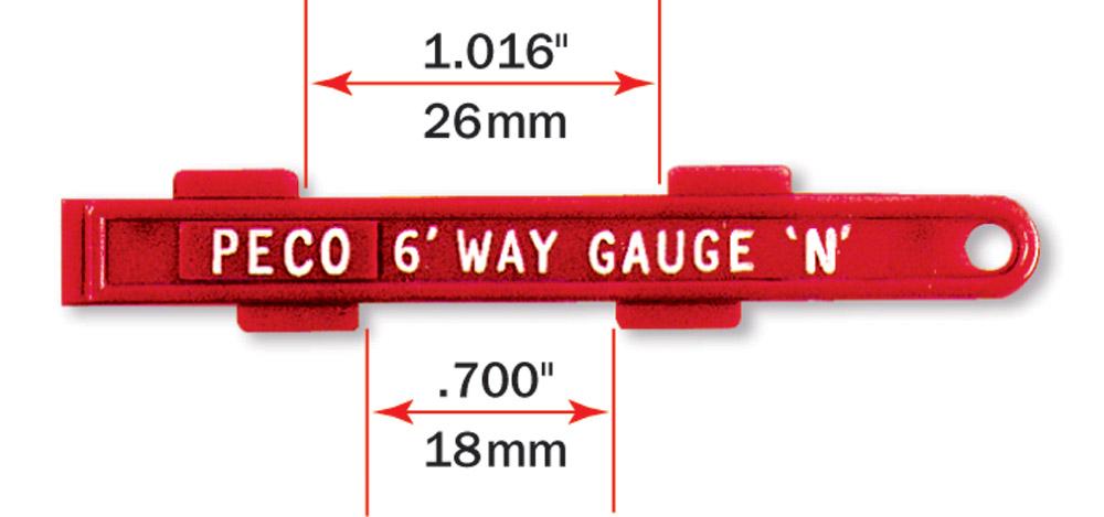 Gleislehre zum exakten Verlegen von Spur N und H0e Parallelgleisen - Peco  - für 26,5 oder 35mm Gleisabstand | günstig bestellen bei Weinert-Bauteile