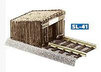 Prellbock aus Holzbohlen, Bausatz - Peco  - Kunststoff - passend an viele H0 Gleise | günstig bestellen bei Weinert-Bauteile