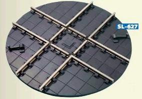 Mehr Details und Kaufen von Spur 1m Waggon-Drehscheibe, d=152mm, Handbetrieb - Peco SL627  - Code 200 Gleisprofile = 5,08mm hoch | günstig bestellen bei Weinert-Bauteile