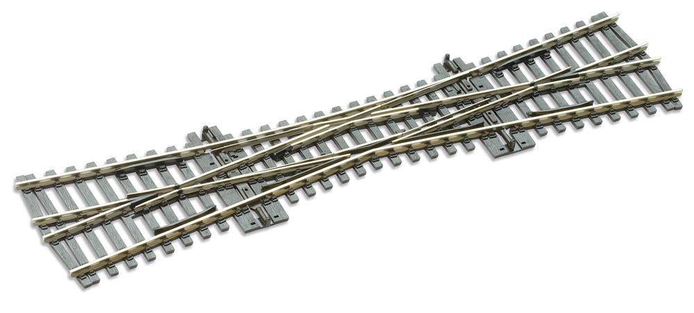 Mehr Details und Kaufen von H0 Code 100 Einfache Kreuzungsweiche, Länge 249 mm - Peco SL80  | günstig bestellen bei Weinert-Bauteile