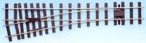 Mehr Details und Kaufen von IIm(G) Code 250 - 12° Weiche links, Länge 600 mm - Peco SL996 Mittlerer Radius 1219 mm | günstig bestellen bei Weinert-Bauteile