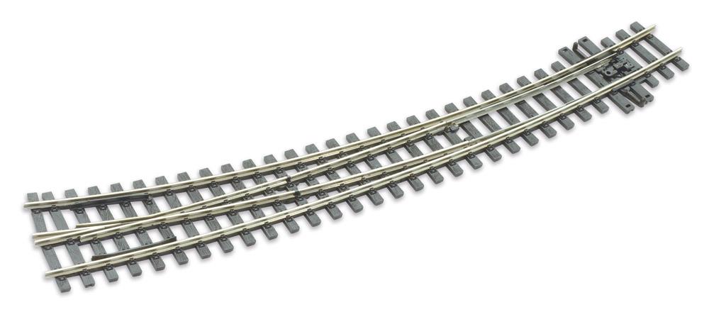 Mehr Details und Kaufen von H0m Bogenweiche rechts 10°, L=237mm - Peco SLE 1486 mit leitendem Herzstück | günstig bestellen bei Weinert-Bauteile