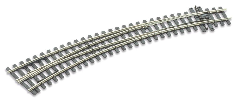 Mehr Details und Kaufen von H0m Bogenweiche links 10°, L=237mm - Peco SLE 1487 mit leitendem Herzstück | günstig bestellen bei Weinert-Bauteile