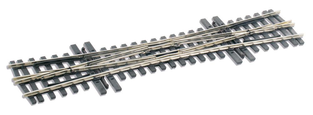 Mehr Details und Kaufen von H0m DKW Doppelte Kreuzungsweiche - Peco SLE 1490 mit leitendem Herzstück | günstig bestellen bei Weinert-Bauteile