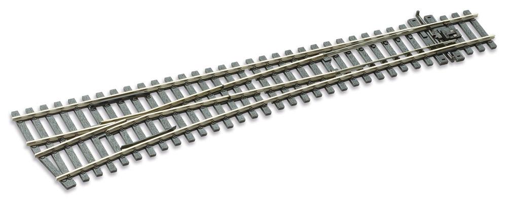 Mehr Details und Kaufen von H0 Code 75 Weiche 12° links, L=258mm - Peco SLE189 Grosser Radius = 1524mm | günstig bestellen bei Weinert-Bauteile