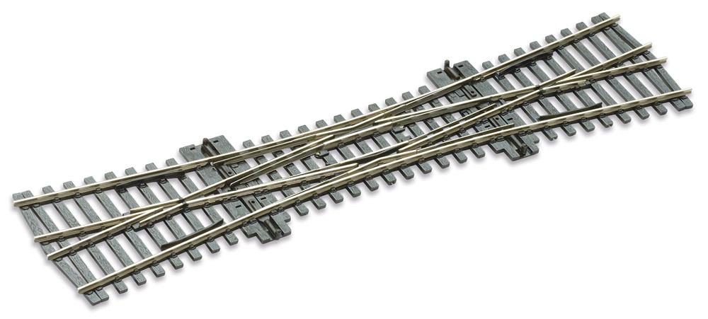 Mehr Details und Kaufen von H0 Code 75 DKW 12°, L=249mm - Peco SLE190 Doppelte Kreuzungsweiche, R = 800mm | günstig bestellen bei Weinert-Bauteile