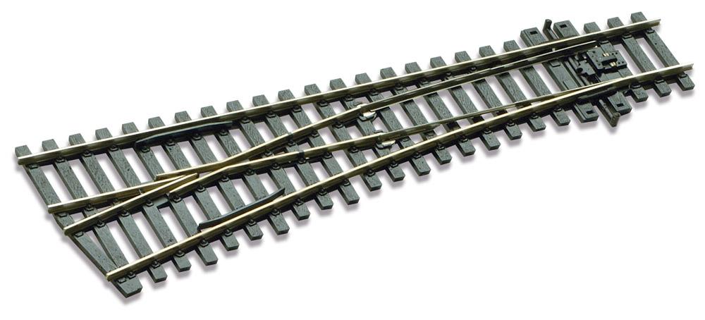 Mehr Details und Kaufen von H0 Code 75 Weiche 12° links, L=185mm - Peco SLE192 Kleiner Radius = 610mm | günstig bestellen bei Weinert-Bauteile