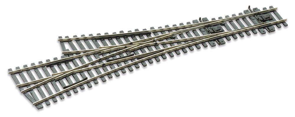Mehr Details und Kaufen von H0 Code 75 3-Weg-Weiche 12°, L=220mm - Peco SLE199 Grosser Radius = 1524mm, kleiner Radius = 914mm | günstig bestellen bei Weinert-Bauteile