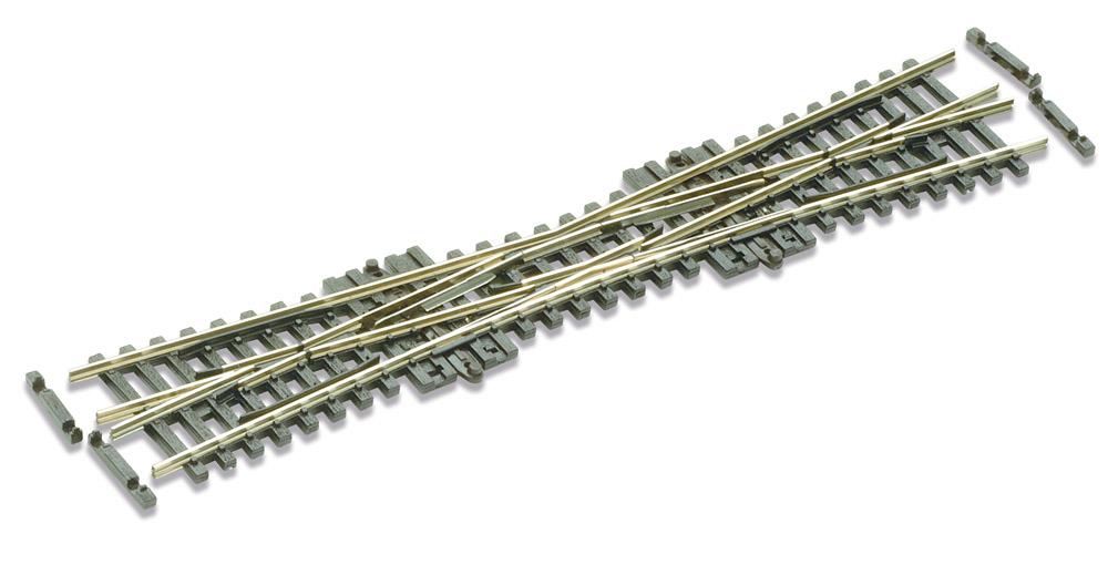 N Code 55 - 10° Einfache Kreuzungsweiche, Länge 154 mm - Peco SLE380F Radius 511 mm | günstig bestellen bei Weinert-Bauteile