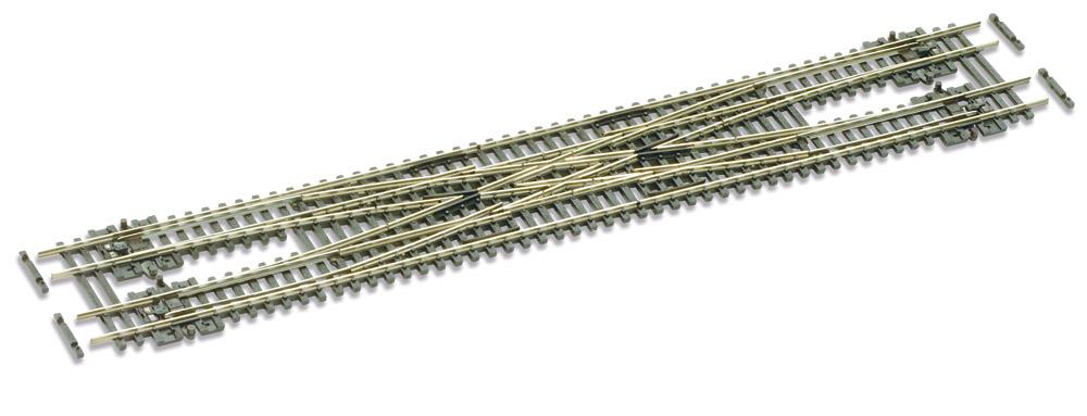 N Code 55 - 10° Doppelte Gleisverbindung , Länge 271 mm - Peco SLE383F Radius 457 mm | günstig bestellen bei Weinert-Bauteile