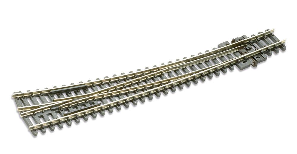N Code 80 - 10° Bogenweiche rechts, Länge 157 mm - Peco SLE 386 Außenradius 914 mm, Innenradius 457 mm | günstig bestellen bei Weinert-Bauteile