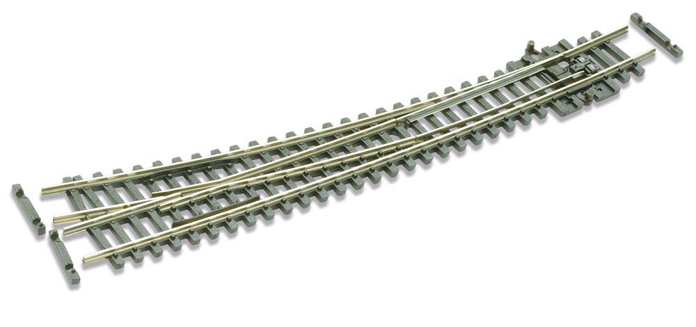N Code 55 - 10° Bogenweiche rechts, Länge 159,5 mm - Peco SLE386F Außenradius 914 mm, Innenradius 457 mm | günstig bestellen bei Weinert-Bauteile