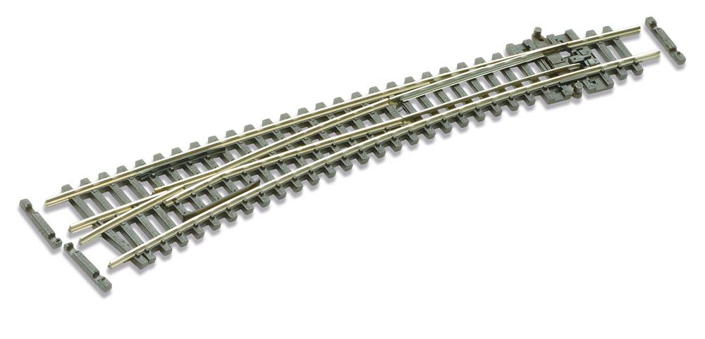 N Code 55 - 10° Bogenweiche links, Länge 159,5 mm - Peco SLE387F Außenradius 914 mm, Innenradius 457 mm | günstig bestellen bei Weinert-Bauteile