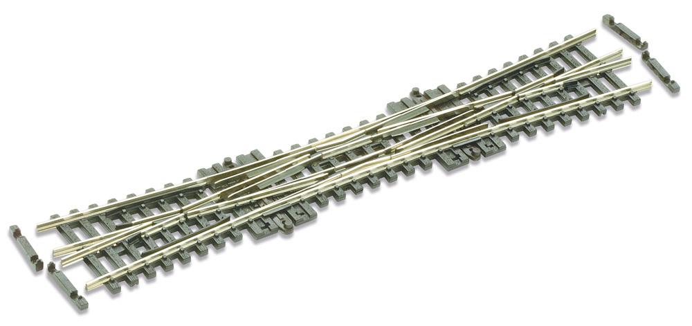 N Code 55 - 10° Doppelte Kreuzungsweiche, Länge 154 mm - Peco SLE390F Radius 511 mm | günstig bestellen bei Weinert-Bauteile