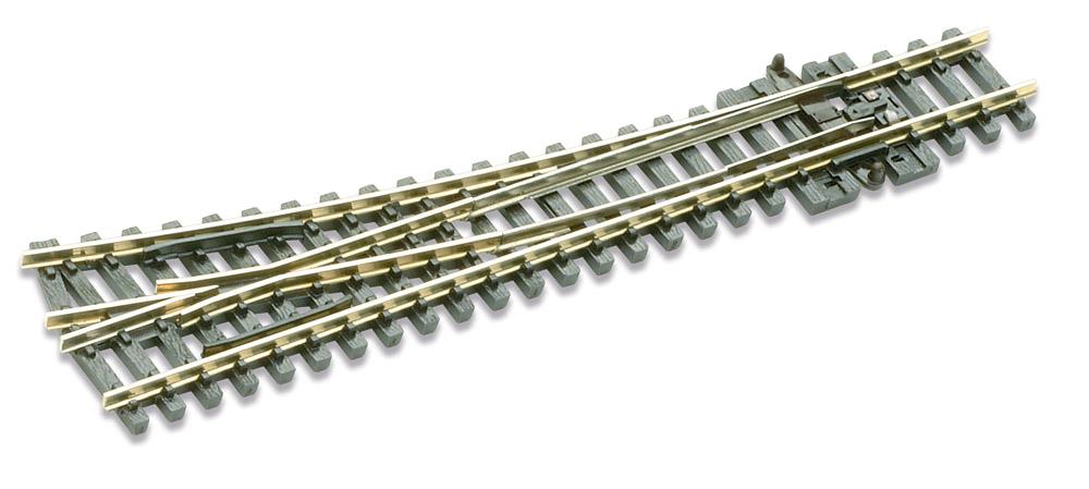 N Code 80 - 14° Weiche rechts, Länge 124 mm - Peco SLE 395 Mittlerer Radius 457 mm | günstig bestellen bei Weinert-Bauteile