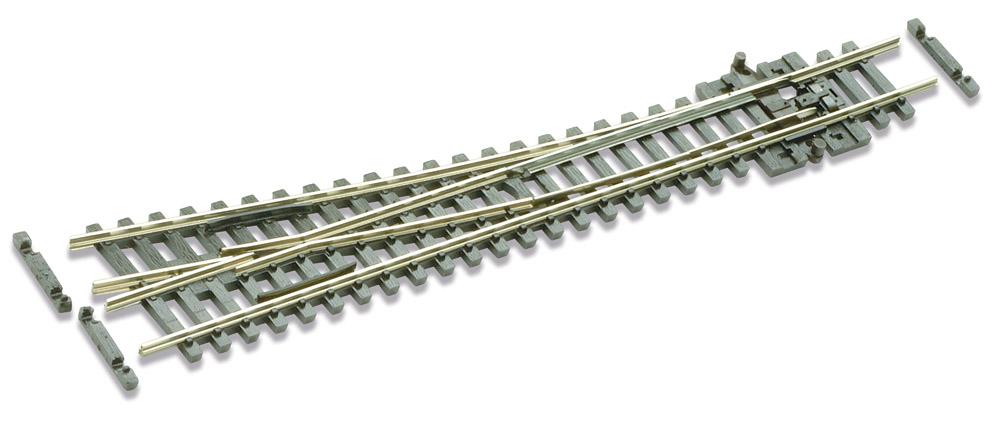 N Code 55 - 10° Weiche rechts, Länge 137 mm - Peco SL-U395F Mittlerer Radius 457 mm | günstig bestellen bei Weinert-Bauteile