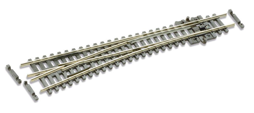 N Code 55 - 10° Weiche links, Länge 137 mm - Peco SL-U396F Mittlerer Radius 457 mm | günstig bestellen bei Weinert-Bauteile