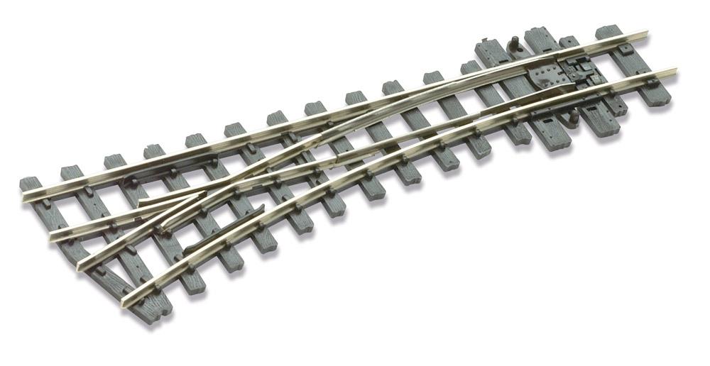 H0e Weiche links, 19°, R=304mm - Peco SLE492 mit leitendem Herzstück | günstig bestellen bei Weinert-Bauteile