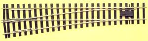 Mehr Details und Kaufen von Spur 0 Code 143 - 8° Weiche links, Länge 416 mm - Peco SLE792FB Mittlerer Radius 1828 mm | günstig bestellen bei Weinert-Bauteile
